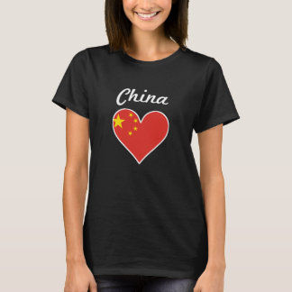China Flag Heart T-Shirt