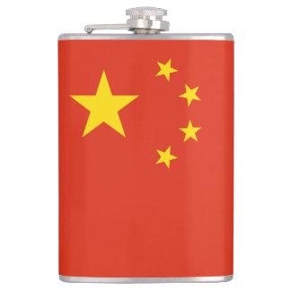 China Flag Hip Flask