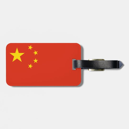 China Flag Luggage Tag