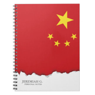 China Flag Notebook