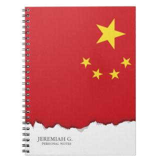 China Flag Notebook