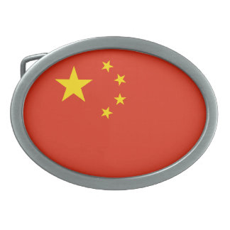China Flag Oval Belt Buckles
