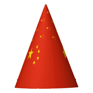 China Flag Party Hat