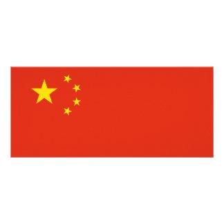 China Flag Rack Card