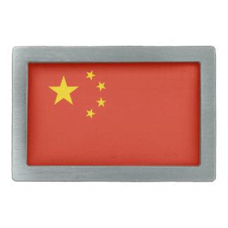 China Flag Rectangular Belt Buckles