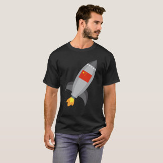China Flag Rocket Ship T-Shirt