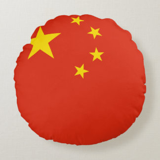China Flag Round Pillow