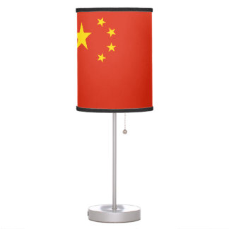 China Flag Table Lamp