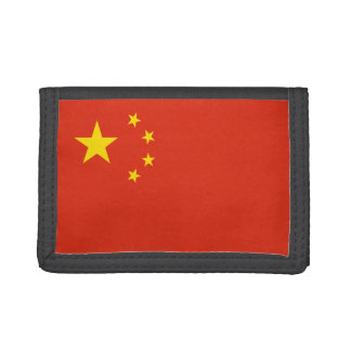 China Flag Trifold Wallets