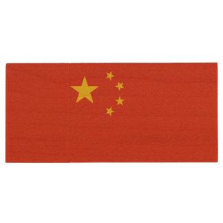 China Flag Wood USB Flash Drive