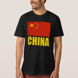 China Flag Yellow Text T-Shirt