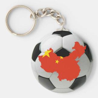 China football soccer keychain
