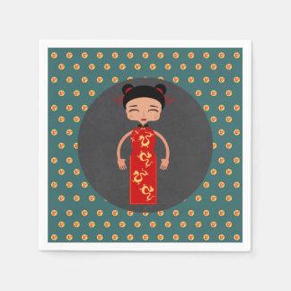China girl birthday party paper napkin
