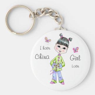 China Girl love Keychain
