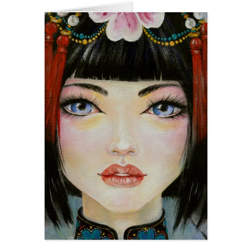 China Girl with Eyes of Blue Cards