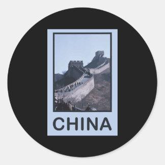 China Great Wall Of China Round Stickers