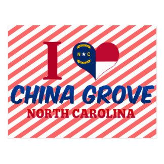 China Grove, North Carolina Postcard