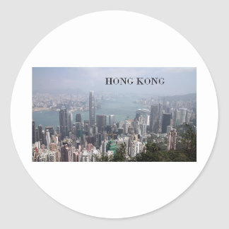 China, Hong Kong (St.K) Classic Round Sticker