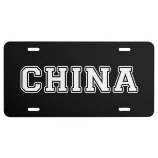 China License Plate