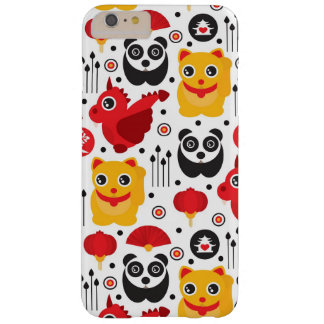 China lucky cat, dragon, and panda barely there iPhone 6 plus case