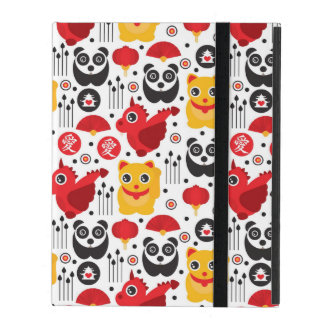 China lucky cat, dragon, and panda iPad covers