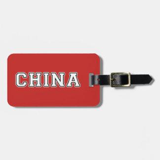 China Luggage Tag