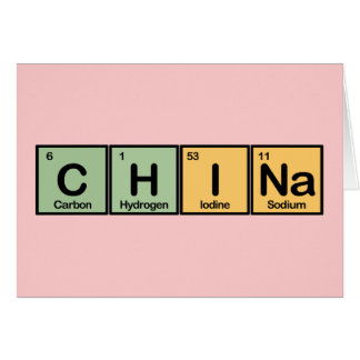 China made of Elements Card