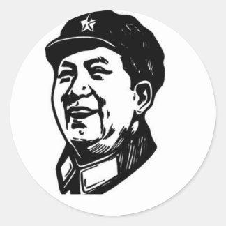China Mao symbol Classic Round Sticker