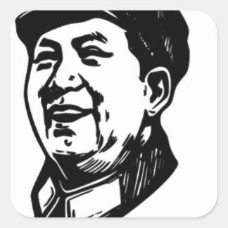 China Mao symbol Square Sticker