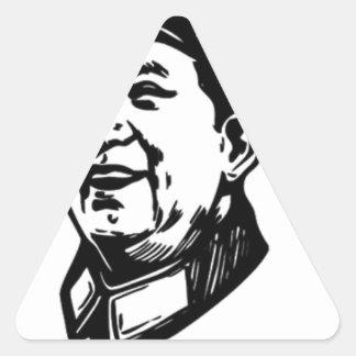 China Mao symbol Triangle Sticker
