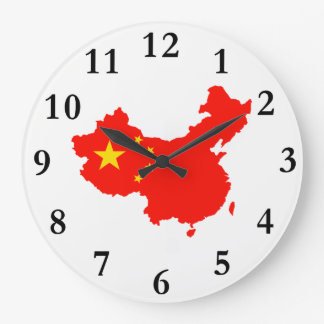 China Map & Flag Clock