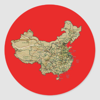 China Map Sticker