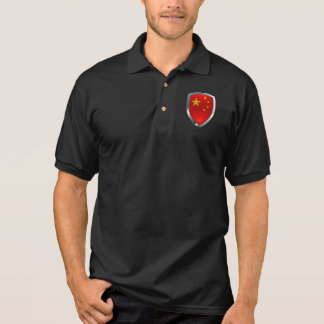 China Metallic Emblem Polo Shirt