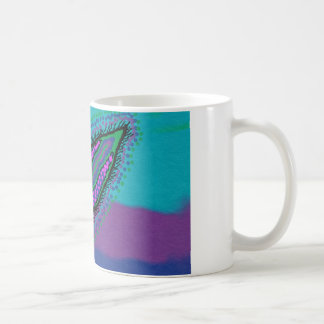 China Mug with feather design