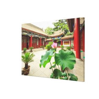 China Pagoda Interior Canvas Print