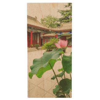 China Pagoda Interior Wood USB Flash Drive