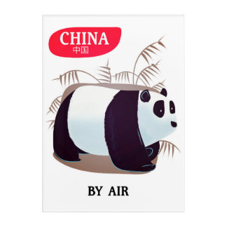 China Panda travel poster Acrylic Wall Art