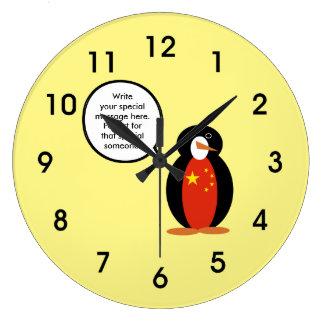 China People's Republic Penguin Large Clock