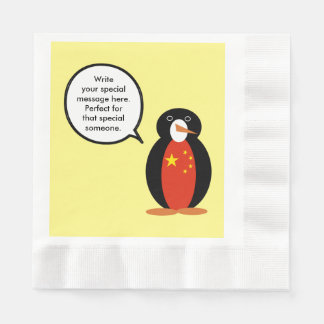 China People's Republic Penguin Paper Napkin