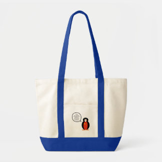 China People's Republic Penguin Tote Bag
