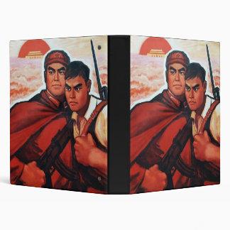 China Red Army Vinyl Binders