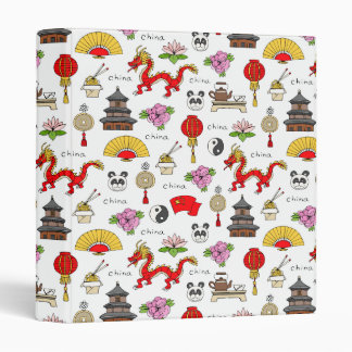 China Symbols Pattern Binder