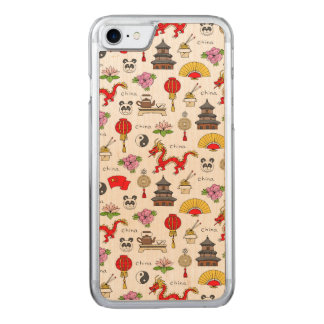 China Symbols Pattern Carved iPhone 8/7 Case