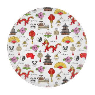 China Symbols Pattern Cutting Board