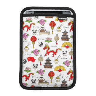 China Symbols Pattern iPad Mini Sleeve