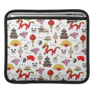 China Symbols Pattern iPad Sleeve