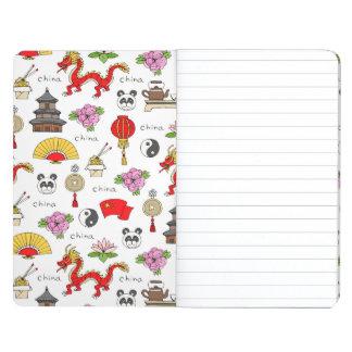 China Symbols Pattern Journal
