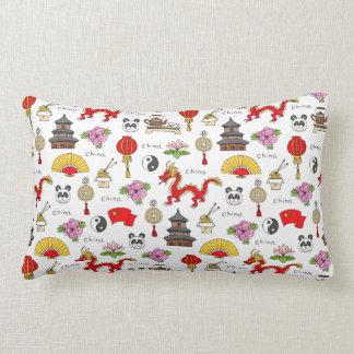China Symbols Pattern Lumbar Pillow