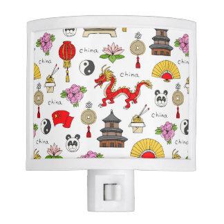 China Symbols Pattern Night Lite