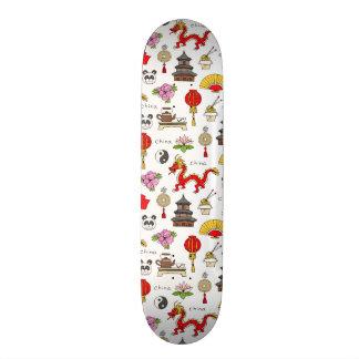 China Symbols Pattern Skateboards